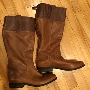 Isaac Mizrahi Two-Tone Leather Riding Boots size 9
